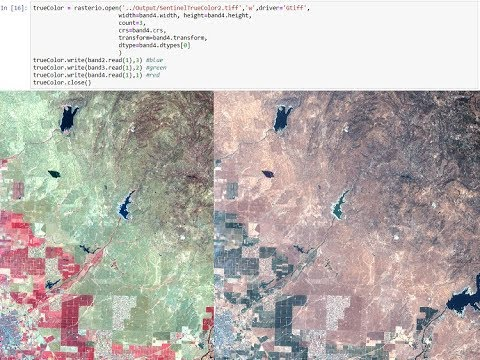 Sentinel2 images exploration and processing with Python and Rasterio