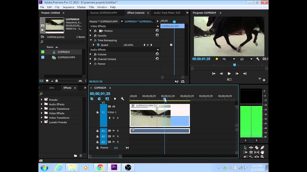 how to cut video in adobe premiere 2015