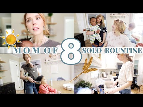 MOM OF 8 KIDS ROUTINE \\ Big Family Day In The Life- Flying Solo!