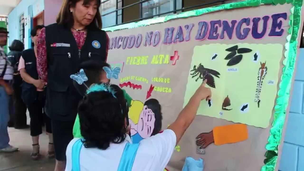 Sin zancudo no hay dengue es lo que nos muestra un alumno for Como organizar un periodico mural