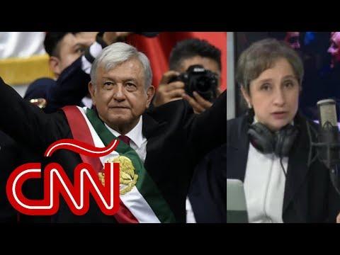 Carmen Aristegui repasa el primer discurso de López Obrador como presidente