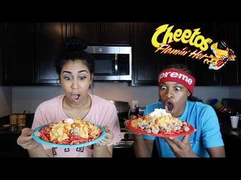 HOW TO MAKE HOT FLAMIN HOT NACHOS!!!! FEAT. QUEEN From Chris And Queen!! thumbnail