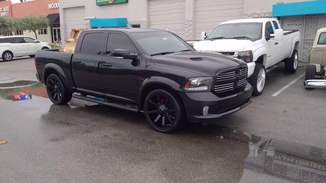 Dodge Ram Rims >> Dubsandtires Com 24 Inch Rims Kmc Slide Black Wheels Dodge Ram Lowered Truck 877 544 8473