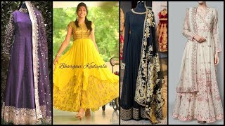 Beautiful and Stylish Party Wear Long Frocks Design Ideas