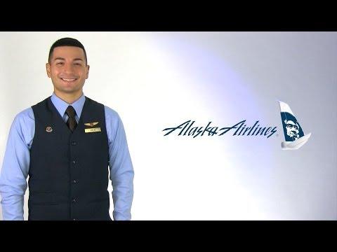 Alaska Airlines Flight Attendant Drew