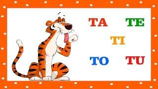 Alfabetização TA TE TI TO TU e as Vogais - Com os Animais