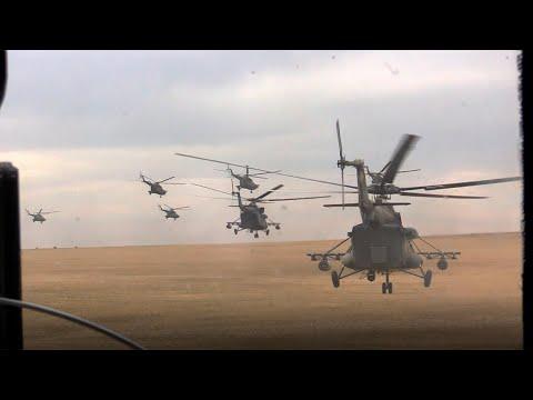 Полет русских валькирий! 50 вертолетов высаживают спецназ и наносят ракетные удары