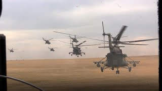 Полет русских валькирий! 50 вертолетов высаживают спецназ и наносят ракетные удары под Оренбургом