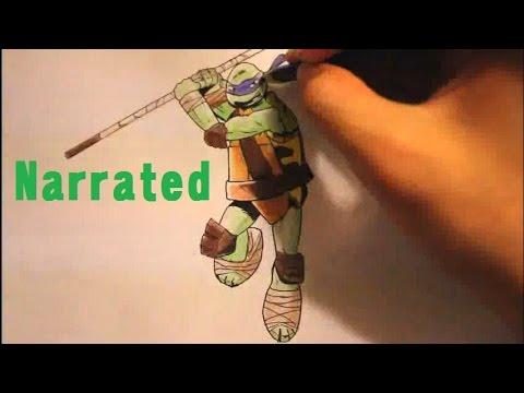 How To Draw Donatello From Teenage Mutant Ninja Turtles