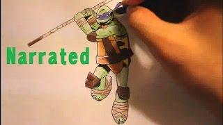 How To Draw Donatello From Teenage Mutant Ninja Turtles|TMNT Characters|2014 movie