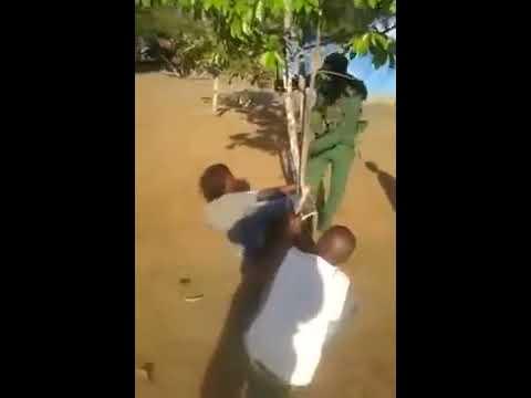 Polícia da Guarda Fronteira de angola tortura uma congolesa em Cabinda
