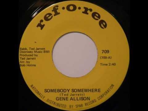 KILLER RARE FUNK: Gene Allison - Somebody Somewhere (Sample)