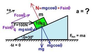 Physics - Mechanics: Appli¢ations of Newton's Second Law (9 of 20)