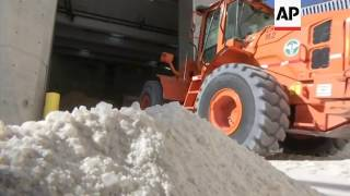 NYC Workers Prep For Heavy Snow