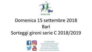 15-09-2018: Sorteggi campionati serie C Puglia 2018/2019