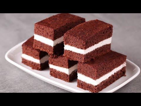 MILK SLICE CAKE l KINDER MILK SLICE l EGGLESS & WITHOUT OVEN