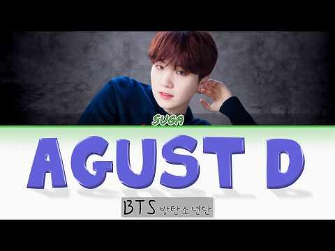 BTS SUGA - Agust D Lyrics (Han|Rom|Eng) Color Coded