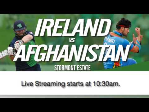 Ireland vs Afghanistan game four live from Stormont