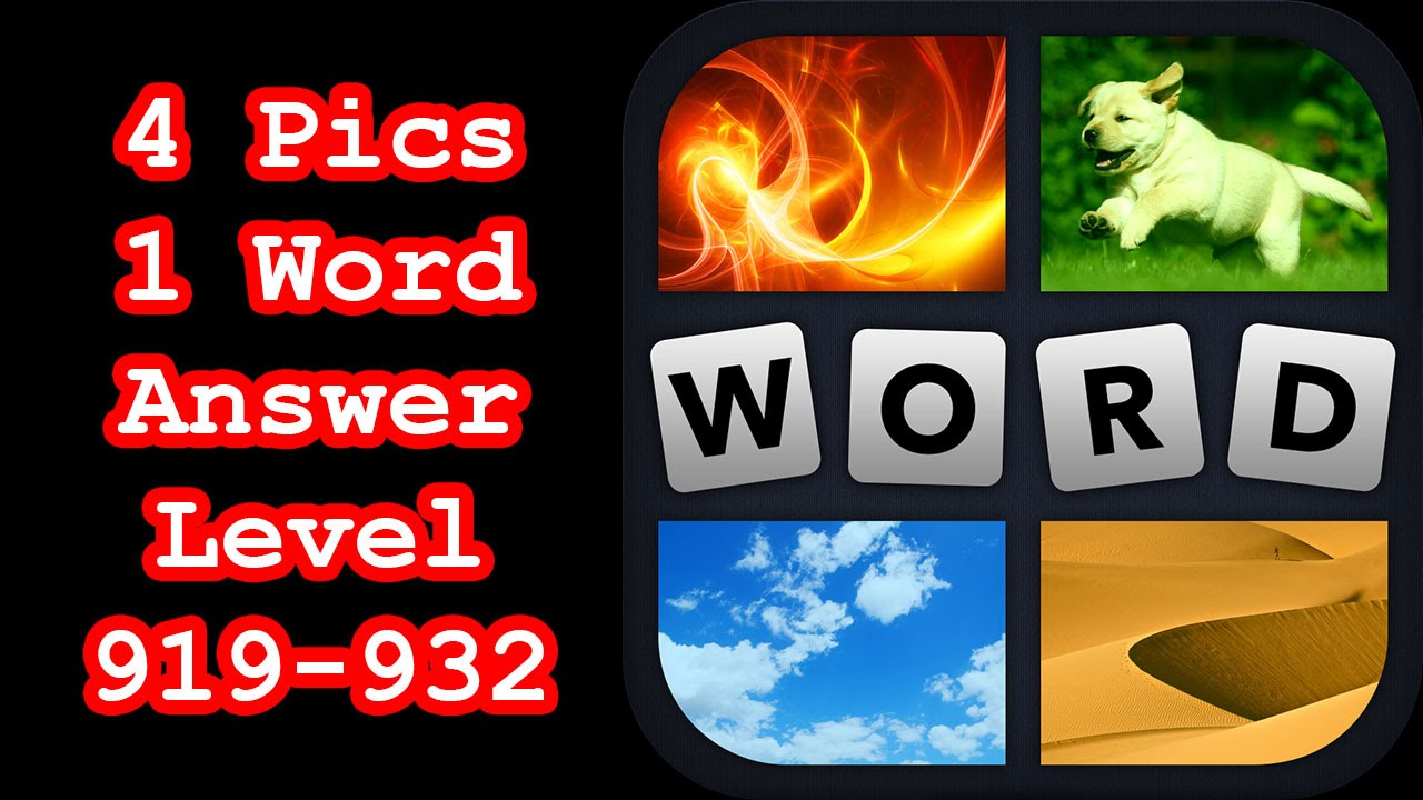 4 Pics 1 Word Level 919 932 Find 4 Eight Letter Words Answers
