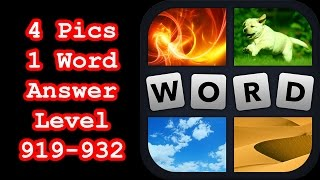 4 Pics 1 Word - Level 919-932 - Find 4 eight-letter words! - A…