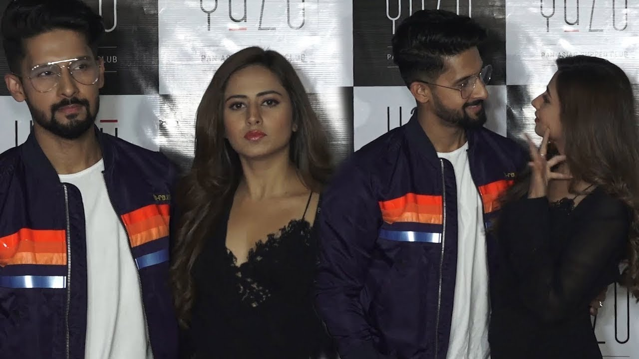 Sargun Mehta with Husband Ravi Dubey at Yazu Pan Asian Supper Club Launch