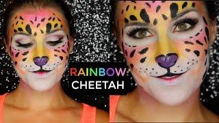 Lisa Frank Rainbow Neon Cheetah Makeup | Bailey B.