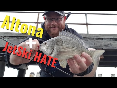Altona Pier Fishing - With Jet Ski Hate!