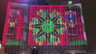 Awesome 3-D Light Show -- Downtown Indianapolis Monument Circle 12/2019