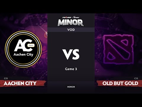 [RU] Aachen City Esports vs Old But Gold, Game 3, CIS Qualifiers, StarLadder ImbaTV Dota 2 Minor