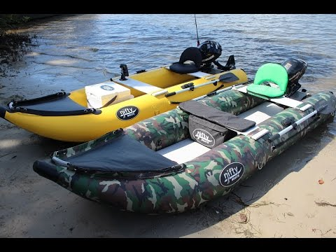 Nifty Boat - Inflatable Fishing Kayak With Outboard