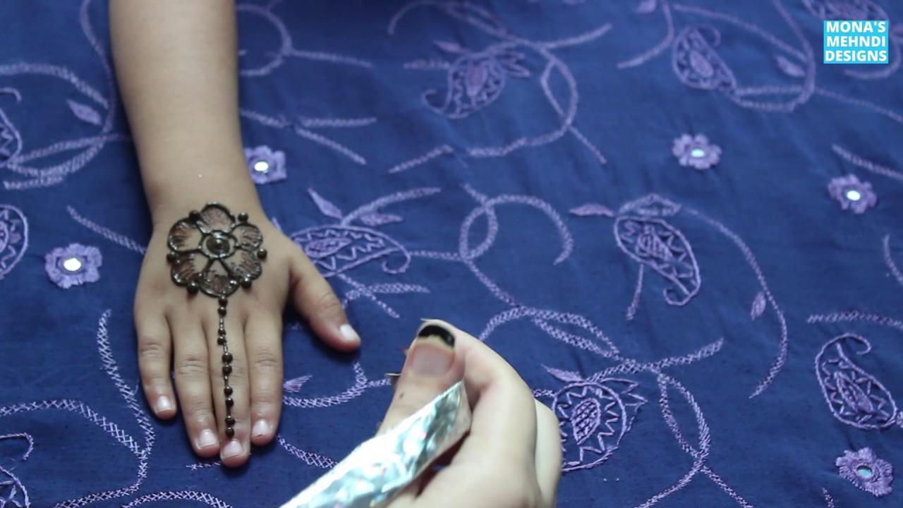 Mehndi Patterns For Little Girls : Kids mehandi design little girls special eid