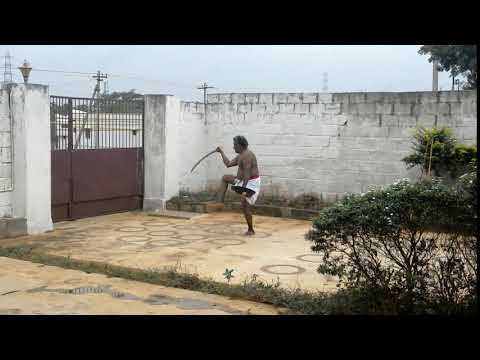 Sword fight act:2-in 12 circles of silambam-Ancient Indian-Tamil war method(2100-B.C)-con:9442180094