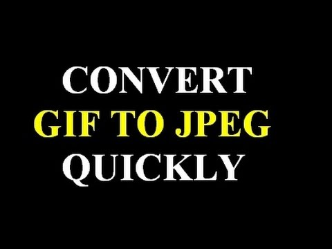 How to convert gif image to jpg format