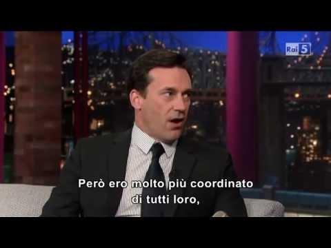 John Hamm @ David Letterman Show 26/04/13 SUB ITA
