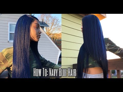 HOW TO: NAVY BLUE HAIR   FT YOLISSA HAIR   LANI FELI