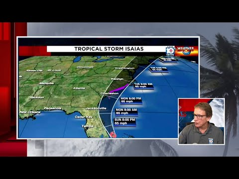 Norcross: Tropical Storm Isaias moving away from South Florida