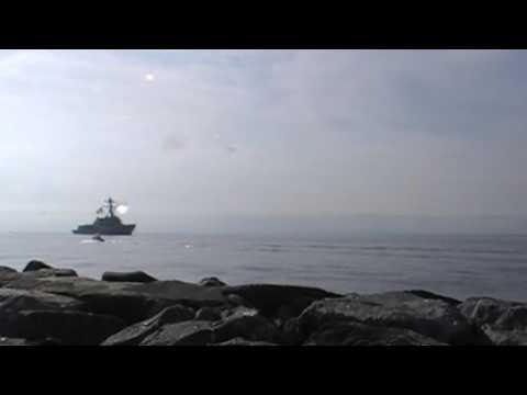 USS Gravely DDG 107 inbound to Norfolk Naval Station 13 July 2016