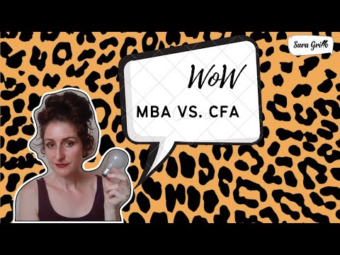 The MBA is NOT the CFA(r) Designation! Don't Buy It, Folks!