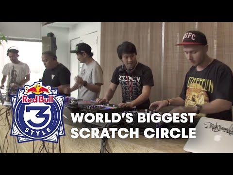 World's Biggest (40 DJs!) Scratch Circle | Red Bull Thre3style