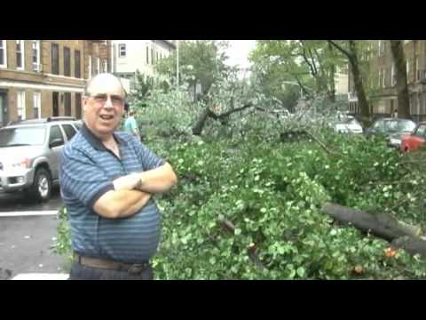 Hurricane Irene hits Windsor Terrace neighborhood in Brooklyn NY
