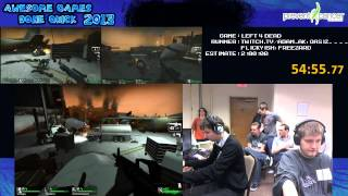 left 4 dead co op speed run in 1 22 52 live for awesome games done quick 2013