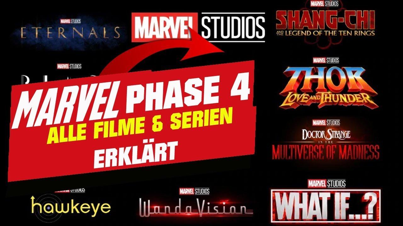 Marvel PHASE 4 erklärt - Alle neuen FILME & SERIEN bis ...