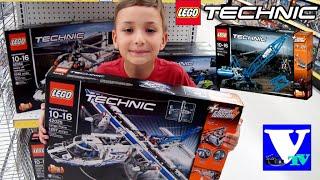 VLOG Магазин игрушек: LEGO Techniс  42025 Грузовой самолет, 42042 Подъемный кран и 42052 Вертолет