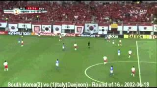 South Korea(2) vs (1)Italy(Daejeon) World Cup 2002 - Round of 16 - 2002-06-18