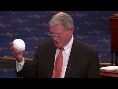 Senator Jim Inhofe Throws A Snowball On The Senate Floor