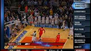 Syracuse's 6OT Win over Connecticut 2009 (Sportscenter Highlights) thumbnail