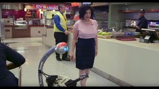 Robot in Crisis at the Airport, Joanne Pransky, World