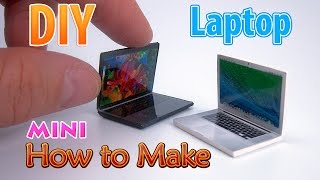 DIY Realistic Miniature Laptop | DollHouse | No Polymer Clay!