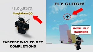 Infinite Completions! | How to do a FLY GLITCH in Jump Over The Walls! [Works in EVERY GAME]