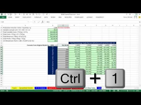 Basic Excel Business Analytics 06: 2 Variable Data Table For WhatIf Analysis